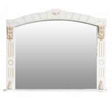АЛЕКСАНДРИЯ 100 Шкаф зеркальный слоновая кость с золотой патиной ATOLL