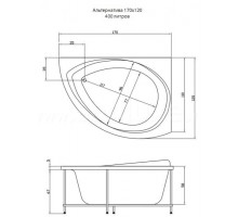 АЛЬТЕРНАТИВА панель для ванны фронтальная AQUATIKA