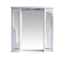 БАРСЕЛОНА 195 Шкаф зеркальный lucido (белый глянец) ATOLL