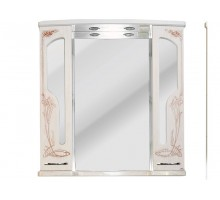 БАРСЕЛОНА 195 Шкаф зеркальный rame (белое дерево медь) ATOLL
