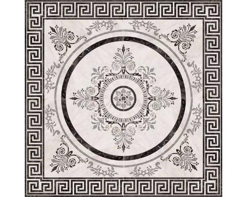 Roseton Nero 4 45*45 декор напольный ABSOLUT KERAMIKA