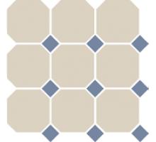 Octagon 4416 OCT11-1Ch White OCTAGON 16/Blue Cobait Dots 11 30*30 см керамогранит наборный TOP CER
