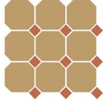 Octagon 4403 OCT04-1Ch Yellow OCTAGON 03/Caramel Dots 04 30*30 см керамогранит наборный TOP CER