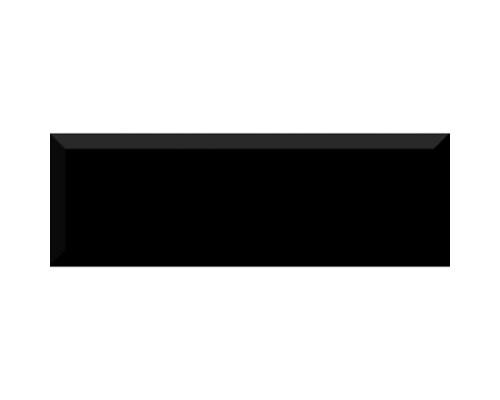 Monocolor Negro Biselado Brillo 10*30 плитка настенная ABSOLUTE KERAMIKA