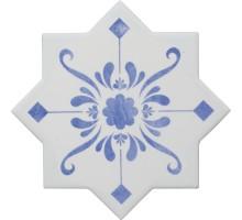 BECOLORS STAR DEC. STENCIL ELECTRIC BLUE 13,25*13,25 плитка универсальная CEVICA