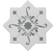 BECOLORS STAR DEC. STENCIL GREY 13,25*13,25 плитка универсальная CEVICA